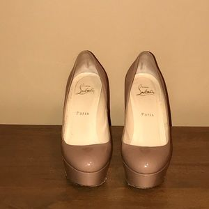 Authentic Christian Louboutin Bianca Nude Pumps